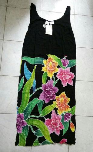 envío gratis vestido floreado batik dama grande playa
