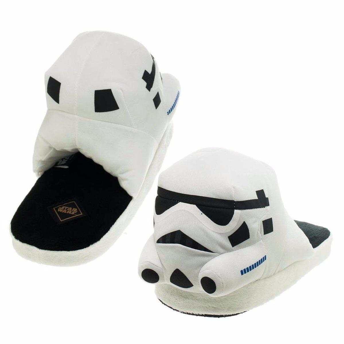 Pantuflas blancas y negras de Star Wars   Calzado   Hombre