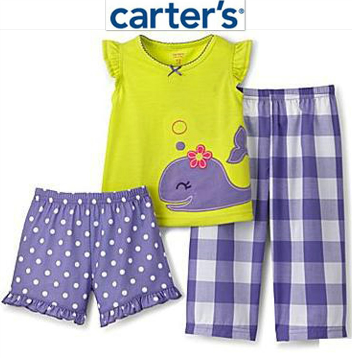 Envio pijama carters 2 anos nina 3 pz camiseta pantalon sh - Ropa nina 3 anos ...