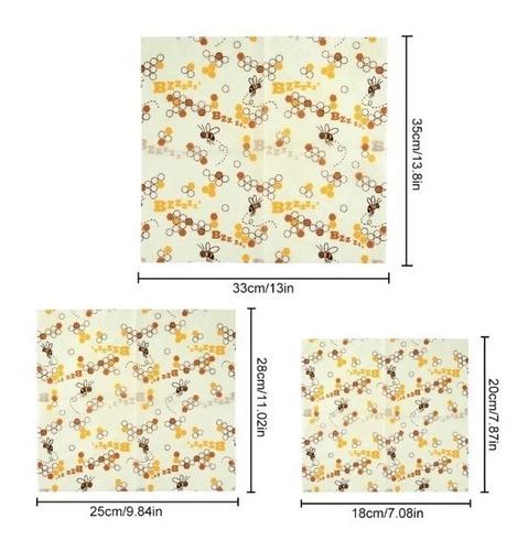 envoltura de tela reusable para alimentos beeswax wrap