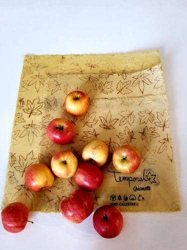 envoltura reutilizable de tela con cera de abeja beewax wrap