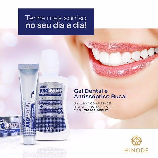 Enxaguante Bucal Gel Creme Dental Clareador Hinode Kit C 5un R