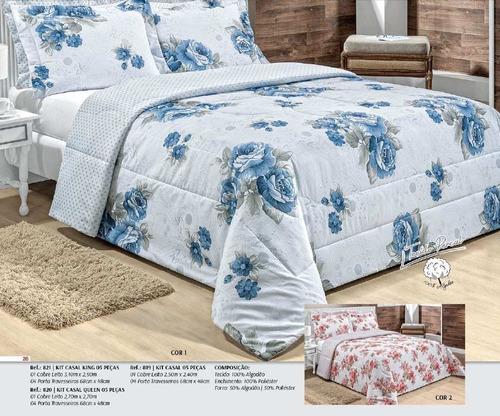 enxoval cama casal/solteiro cobre leito