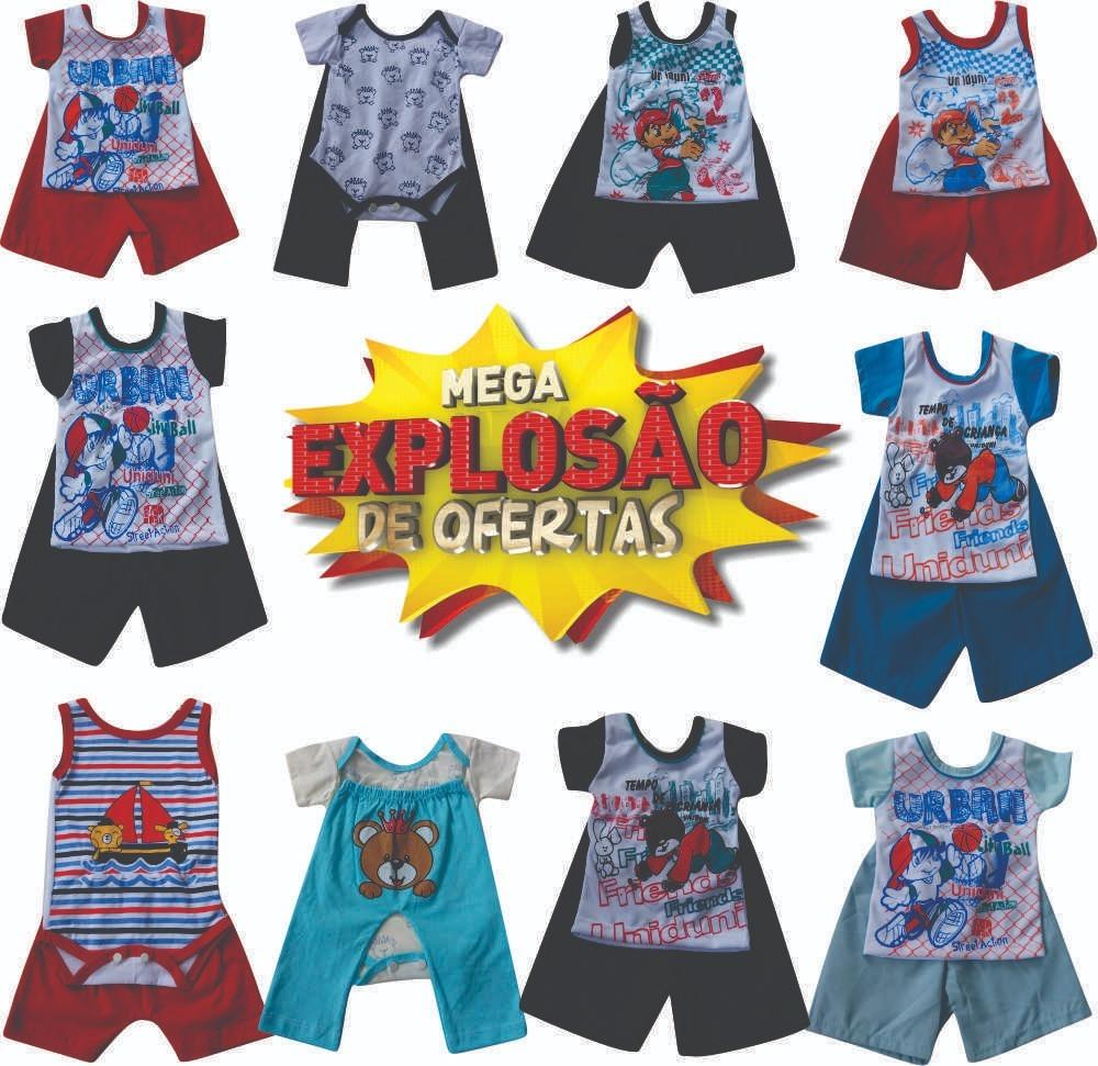 75172946cf Enxoval Para Bebê Barato Kit C 3 Conjunto Rn Menino Promoção - R  39 ...