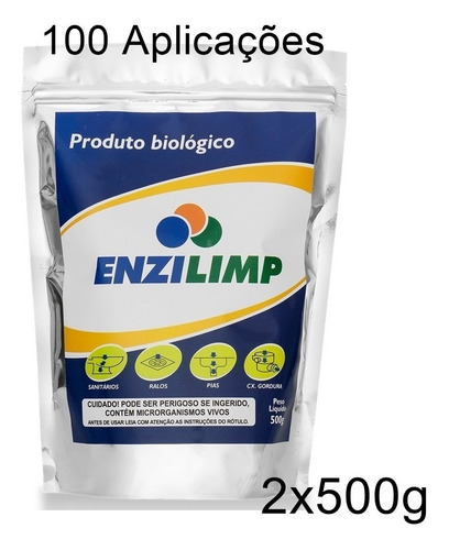 enzilimp enzima eco p/ vaso ralo pia caixa gordura fossa 1kg