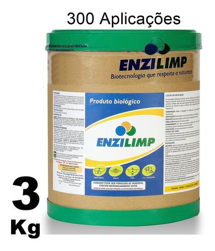enzilimp enzimas p/ vaso ralo pia caixa de gordura fossa 3kg