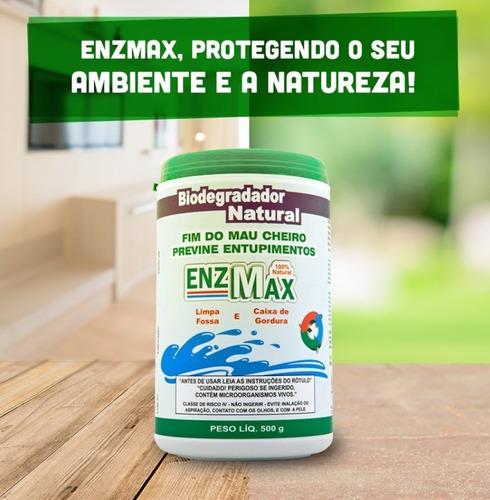 enzmax 500g limpa fossa caixa de gordura ralo, enzimas