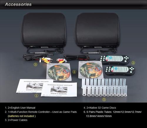 eonon apoyacabezas - cabeceros carro 9 pulg. reproductor dvd