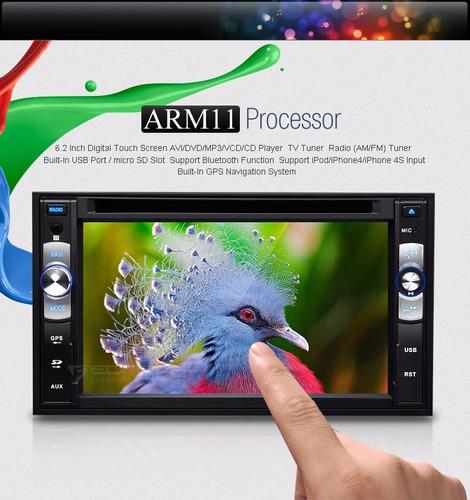 eonon - radio carro pantalla 6.2 pulg. repr. dvd 2 din - gps