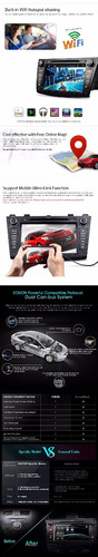 eonon - radio mazda 3 android 4.4 - 8 pulg. 2 din - gps wifi