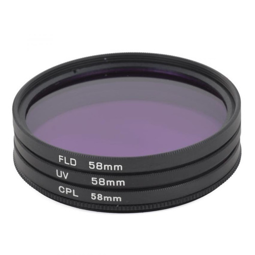 eoscn universal 58mm uv + cpl + fld lens filter for dslr - b