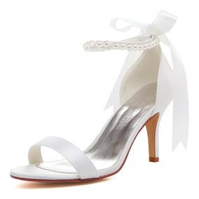 Cinta Perlas Lazo Sandalias Zapatos Correa Tacones Ep11053n fvgYby76