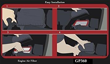 epauto gp360 (ca9360) toyota rígido del panel de filtro de