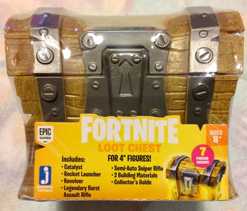 epic games' fortnite loot chest collectible accessory set!!