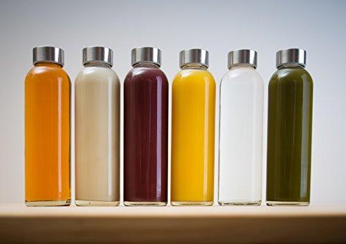 epica 18-oz. botellas de vidrio de bebidas, sistema de 6