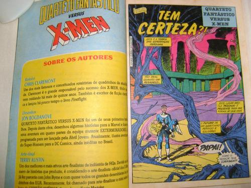 épicos marvel nº1 quarteto fantástico  versus x-men out 1991