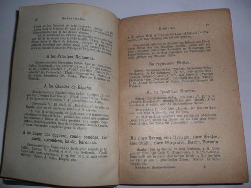 epistolario m.ramshorn 1907 español aleman franz glazer
