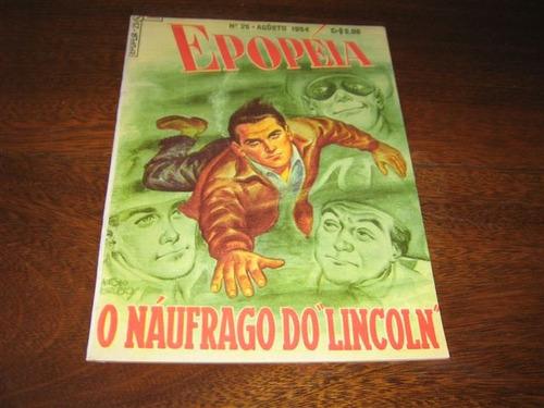 epopéia 1ª série nº 25 agosto /1954 editora ebal