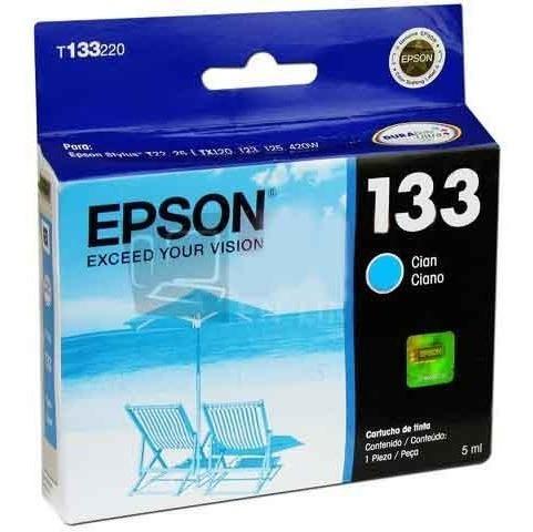 epson 133 cartucho tinta cian t22 t25 ttx120
