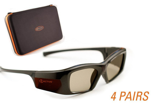 epson-compatible 3active 3d glasses. recargable paquete de c