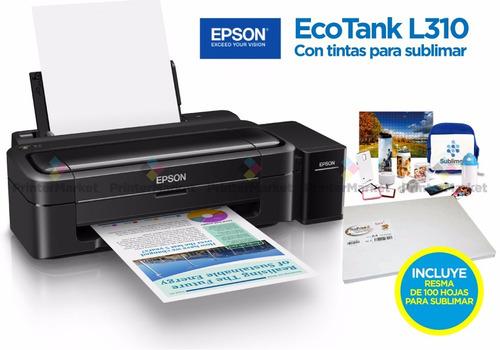 epson l310 sublimación+resma 100 hojas+obsequio+envio gratis