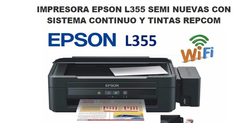 epson l355 multifunción (sistema cont) casi nueva o permuto