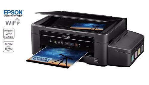 epson l375 multifuncion wifi imprime copia y escanea sellado