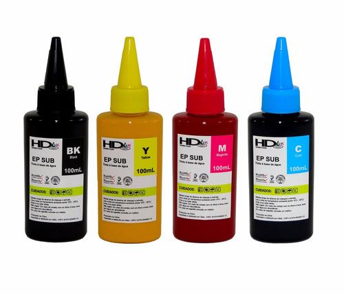 epson l395 tinta+400ml de tinta sublimatica  + 100 folhas