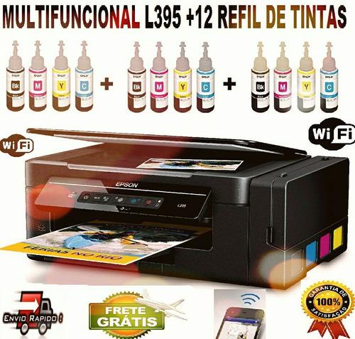 epson l396 + 12 tintas sublimaticas+ frete grátis + garantia
