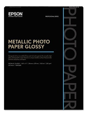 epson metalico foto chorro de tinta papel fotografico blanco