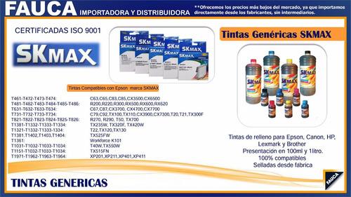 epson tx100/cx3700/tx300f  tinta genérica suministros fauca