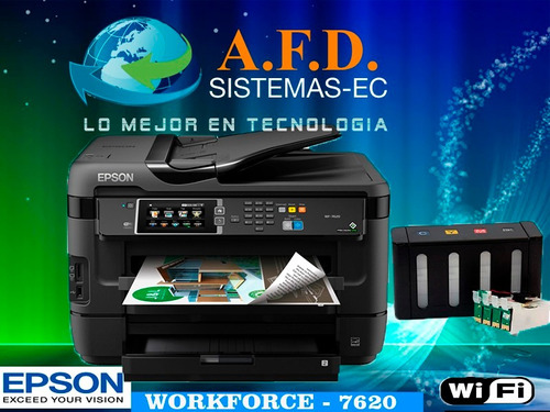 epson wf 7620 o wf7720 a3 con sistema tinta continua