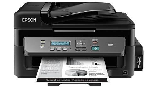 epson workforce m205 multifuncional tanque tinta wi-fi negro