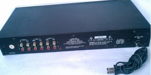 equalizador 20 banda realistic aluminio jvc pioneer 3h3h