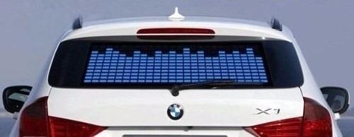 Tapetes Artesanato Mineiro ~ Equalizador Automotivo Cor Azul painel Adesivo Led R
