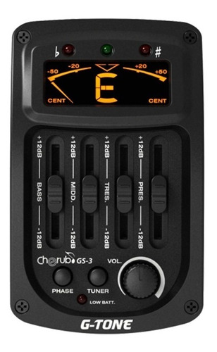 equalizador cherub gs3 para guitarra acustica gs-3