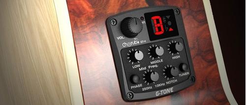equalizador cherub gt4 para guitarra acustica