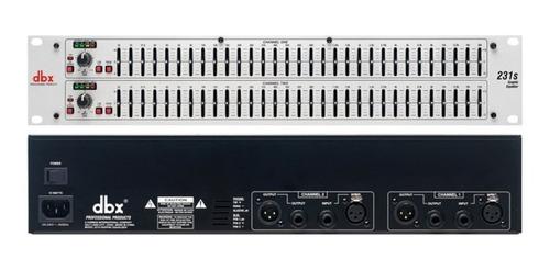 equalizador dbx 231s stéreo 31 bandas 2 canais bivolt c nota