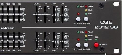 equalizador grafico 31 bandas - ciclotron - cge 2312 sg