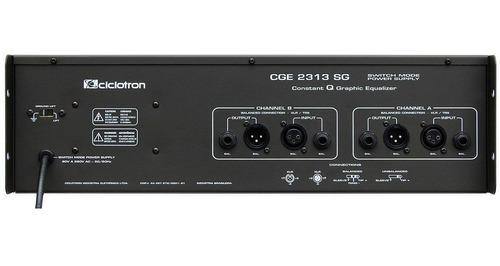 equalizador gráfico cge2313sg 31 bandas ciclotron imperdível