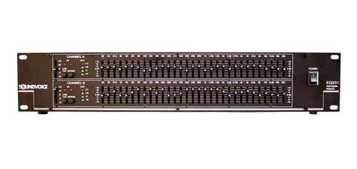 equalizador som gráfico 2 canais 31 bandas estéreo eq231 pro