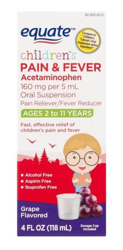 equate children's grape flavored pain & fever liquid