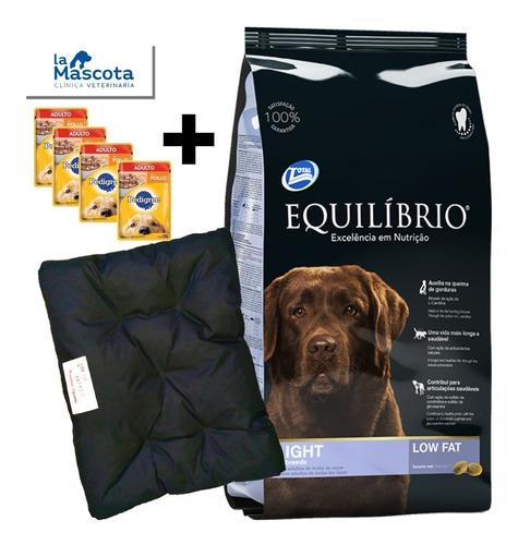 equilibrio perro adultos light 15kg + regalo + envio comida