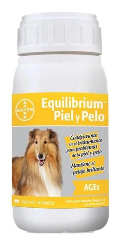 equilibrium ages piel y pelo 60 tab vitaminas para perros