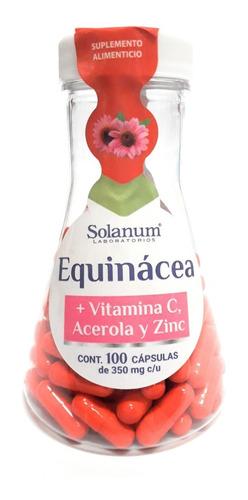 equinacea vitamina c zinc y acerola solanum 100cap enviofull