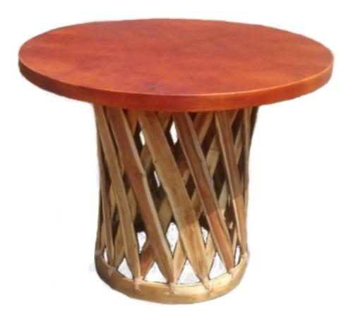 equipal. mesa redonda para hogar y restaurante.