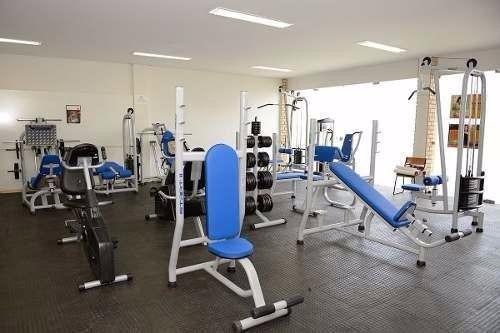 equipamentos  academia construçao detalhada