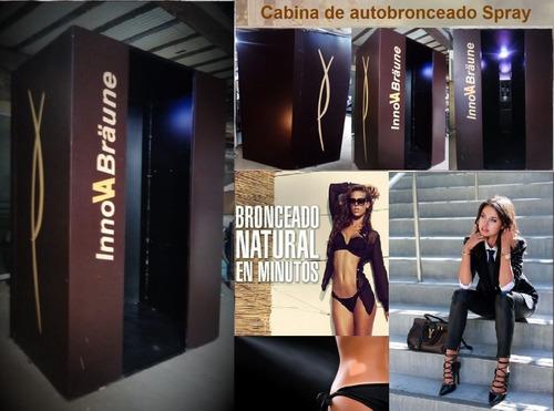 equipamiento estética gimnasios cabina de autobronceado.