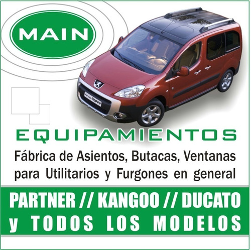 equipamiento interior partner,kangoo,ducato,master,utilitari