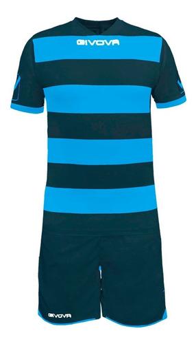 equipamiento rugby givova de fútbol camiseta y short